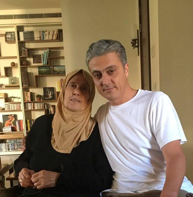Alaswad and his mother