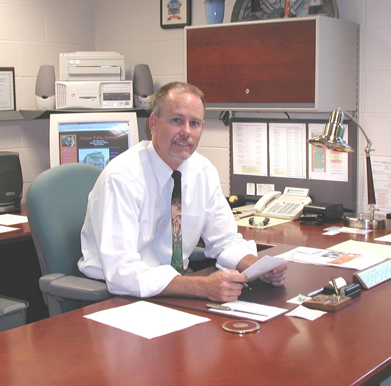 Allegan Public Schools Superintendent Kevin Harness