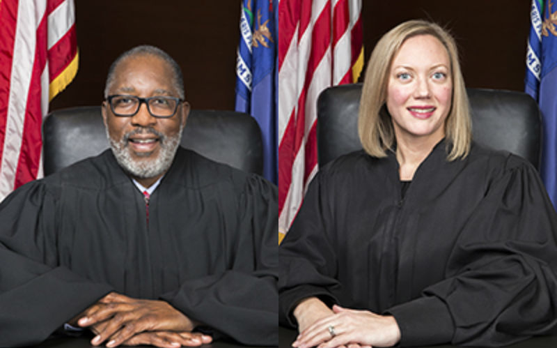 Michigan Supreme Court justices Wilder and Clement