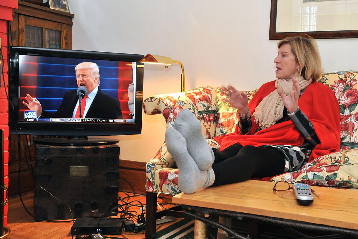 Shafer watches inauguration