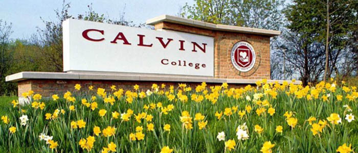 Calvin College sign