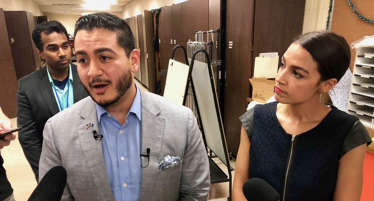 Abdul El-Sayed and Alexandria Ocasio-Cortez
