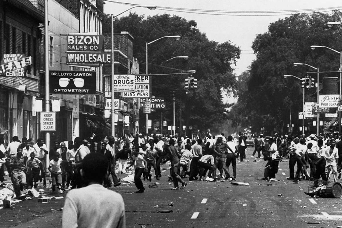 detroit riots On july 23, 1967, rioting broke out in detroit, michigan it lasted five days and lead to 7,200 arrests and 43 deaths.