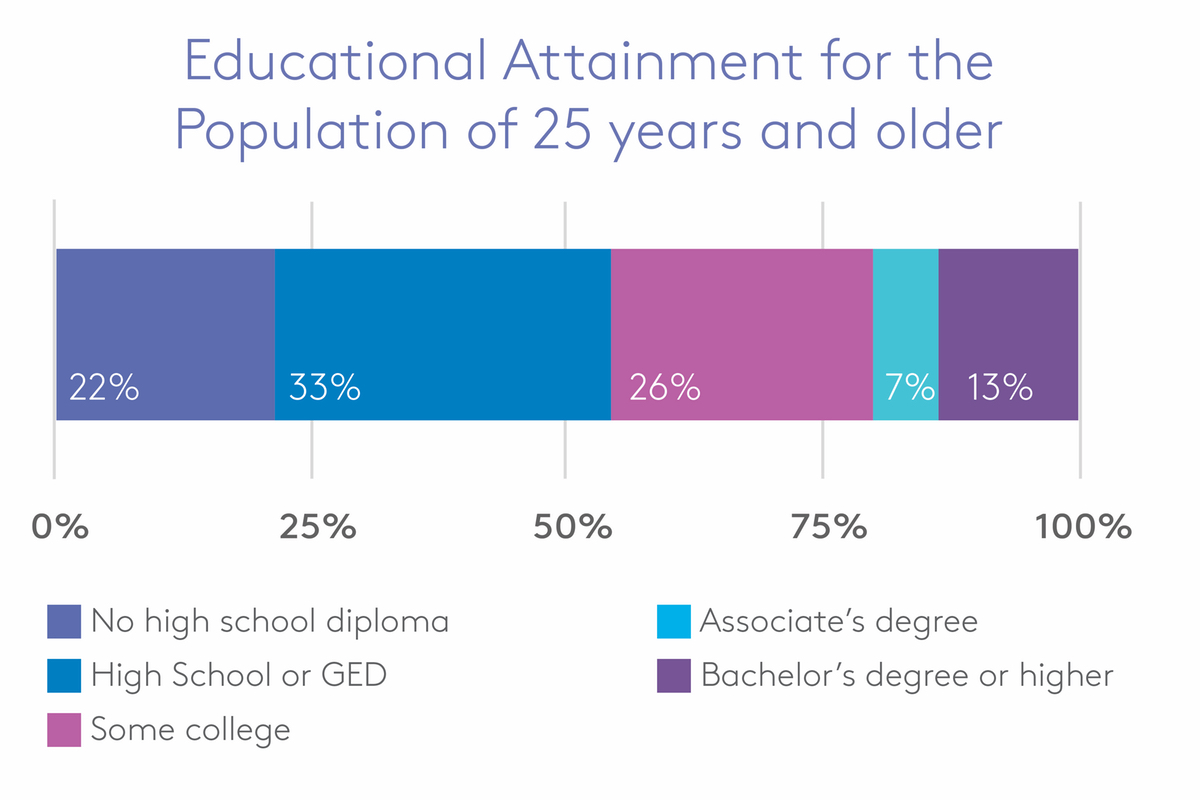 detroit educational attainment