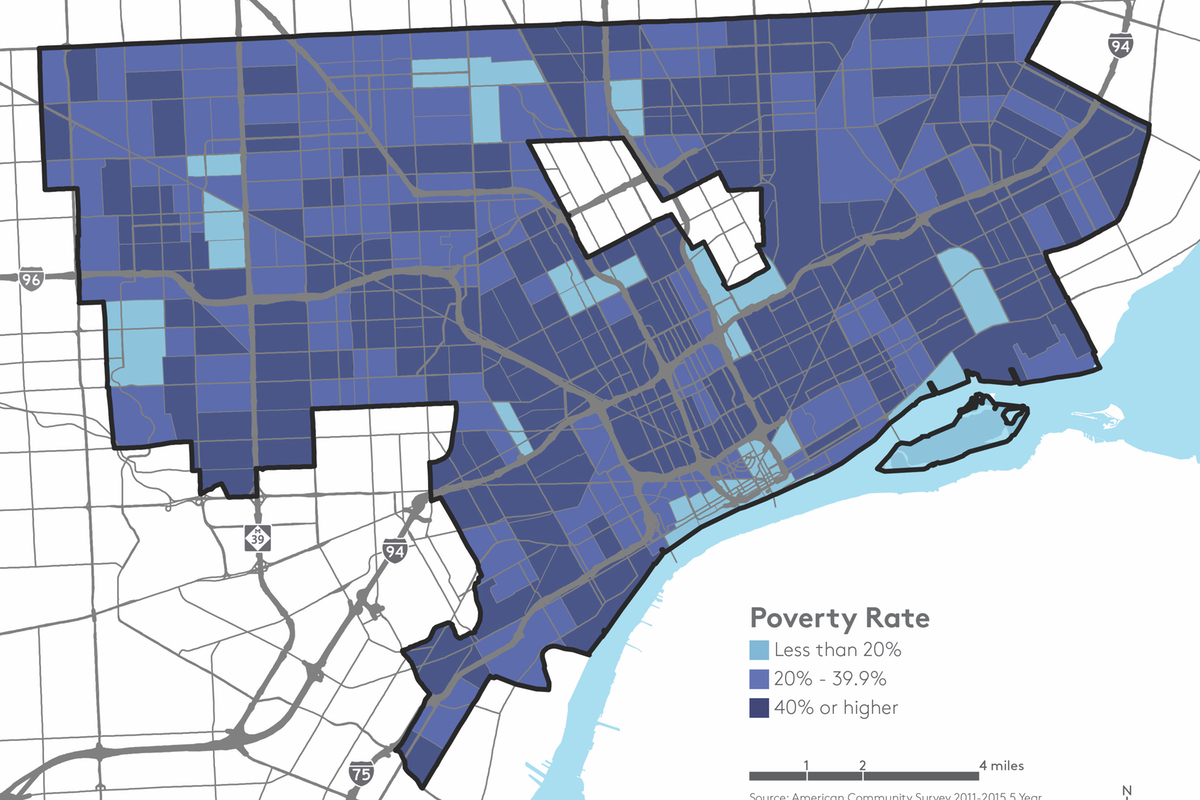 detroit poverty rate