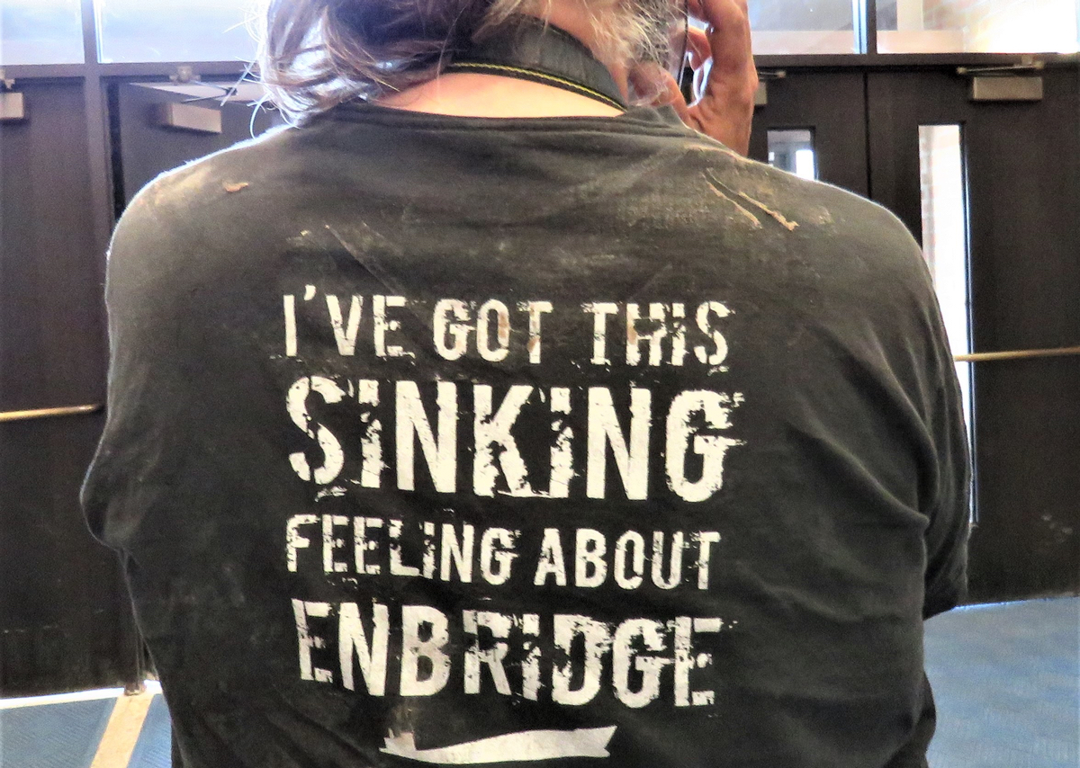 Enbridge protester