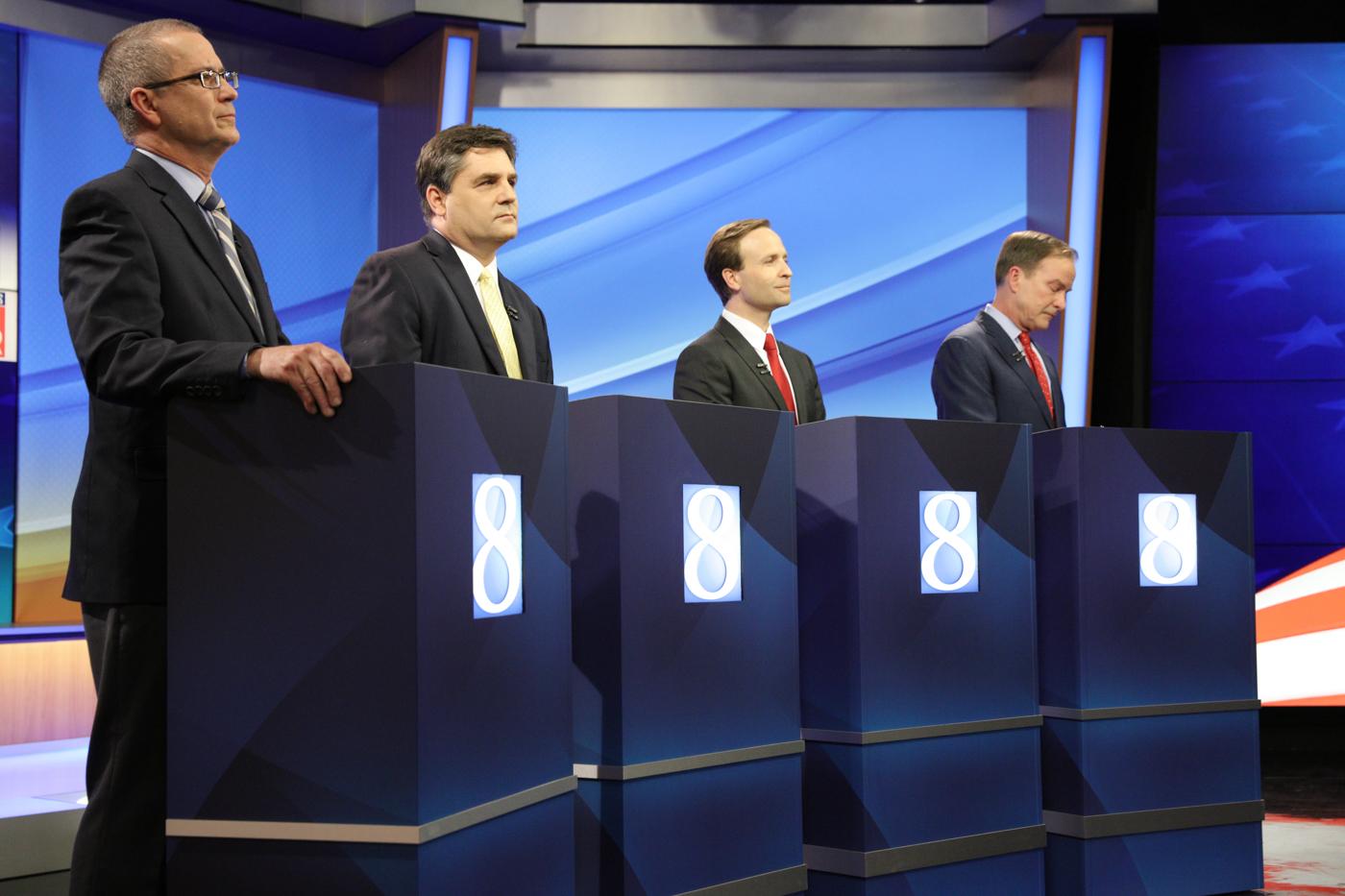 Four Republican gubernatorial candidates debate in Grand Rapids