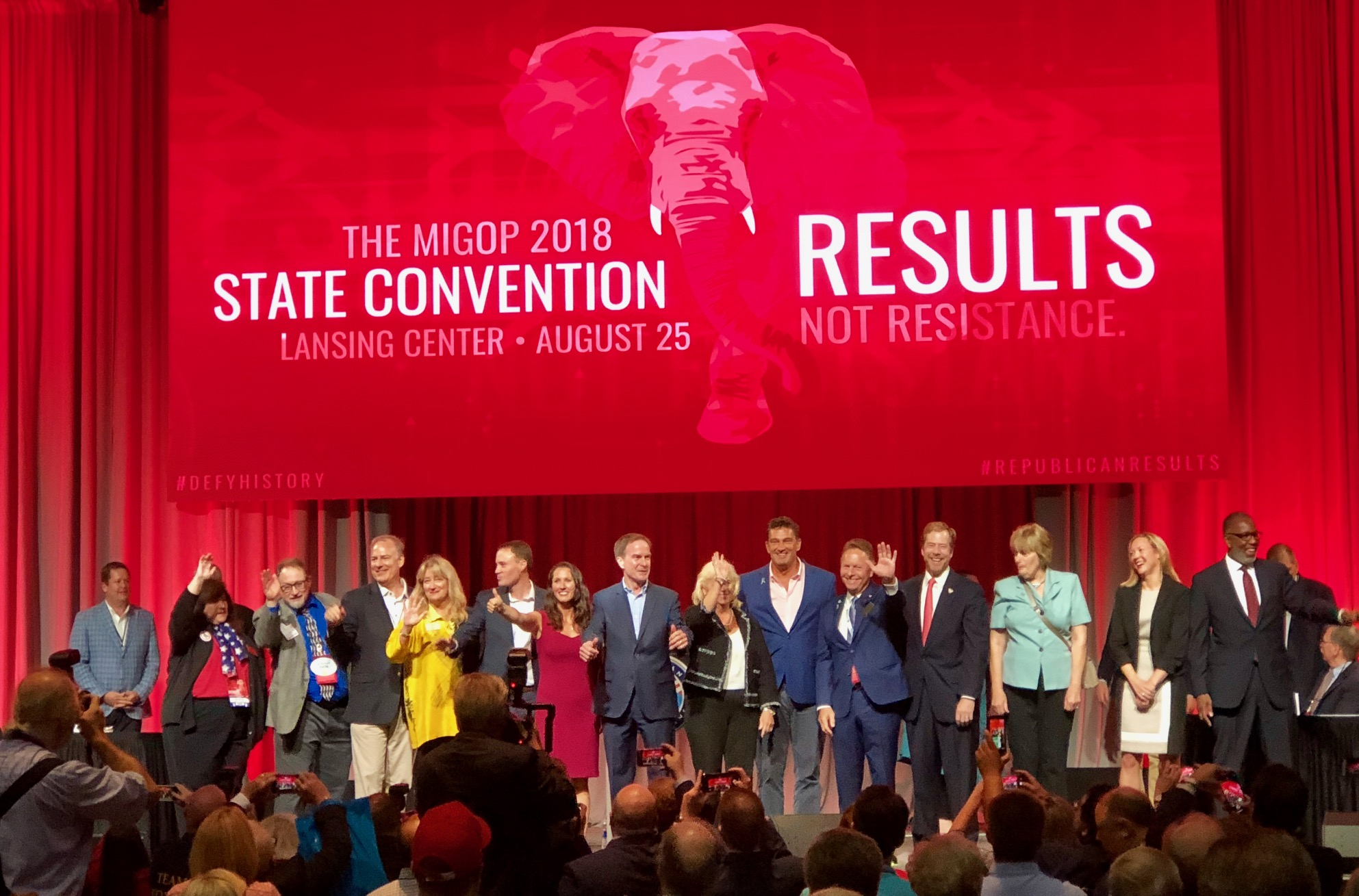 The members of the Michigan Republican ticket in 2018.