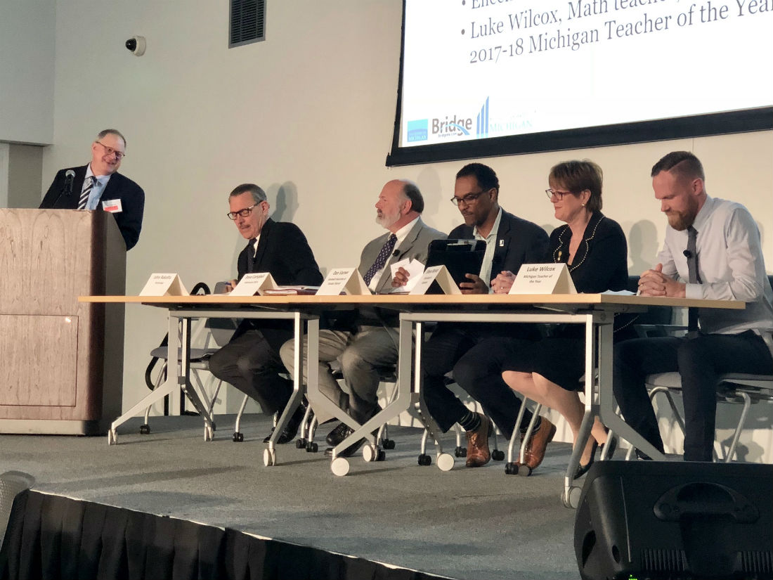 Michigan Solutions Summit panel on Key Education Issues for 2018 Statewide Elections and Beyond