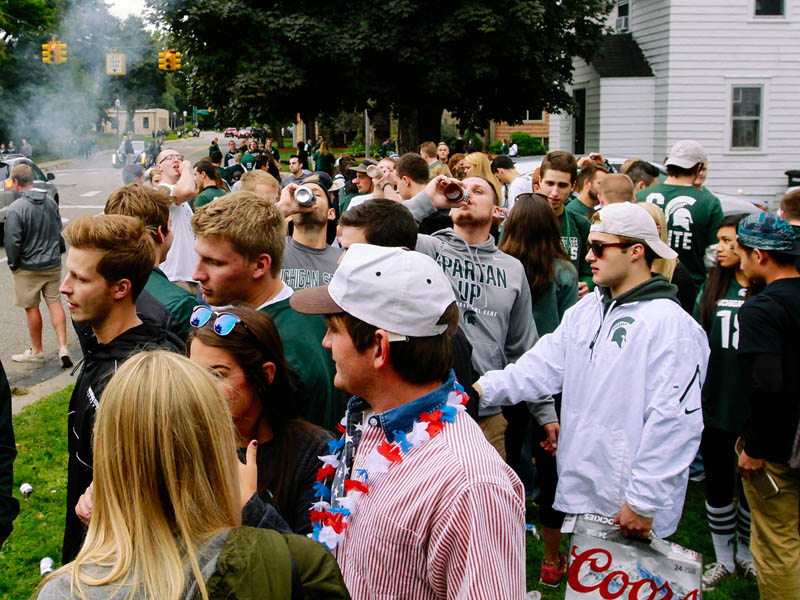 MSU frat party in a yard