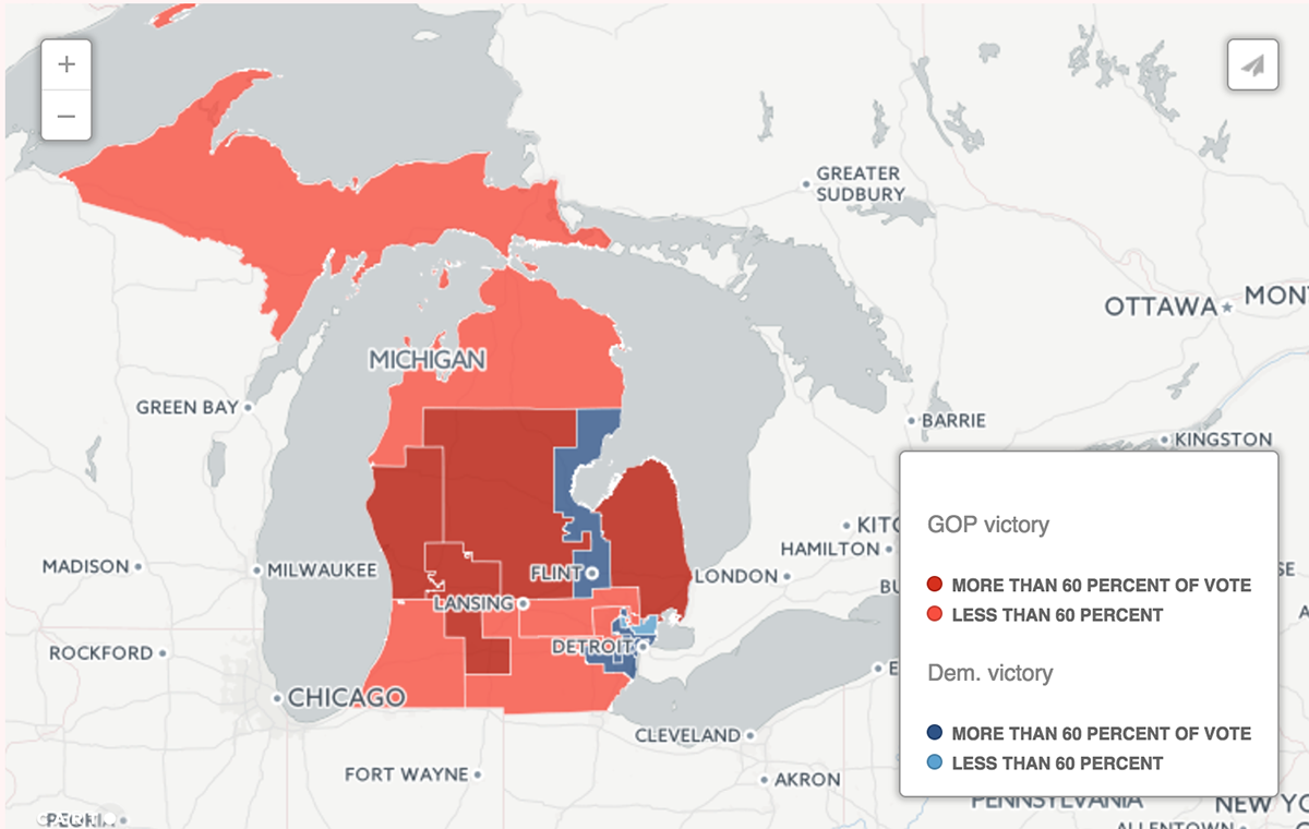 gerrymandering in michigan is among the nation s worst new test claims bridge magazine