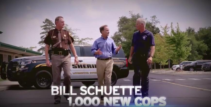 Bill Schuette 1,000 cops