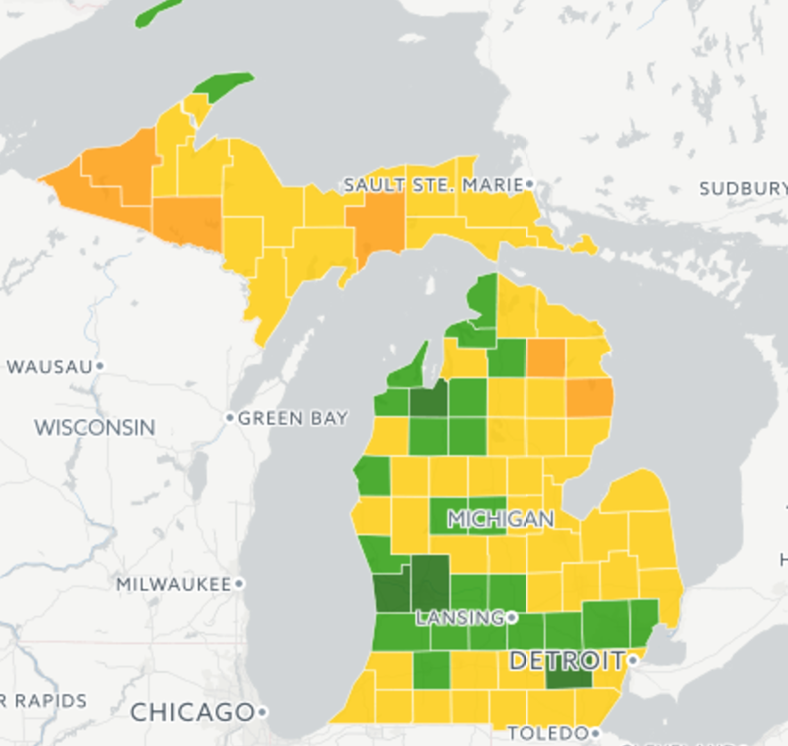 See How Population Is Changing In Your Michigan County Interactive Map Bridge Michigan