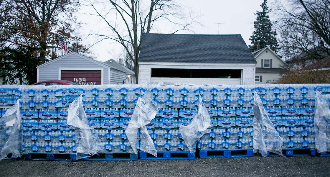 In Flint, trust is lost  And bottled water supplies are