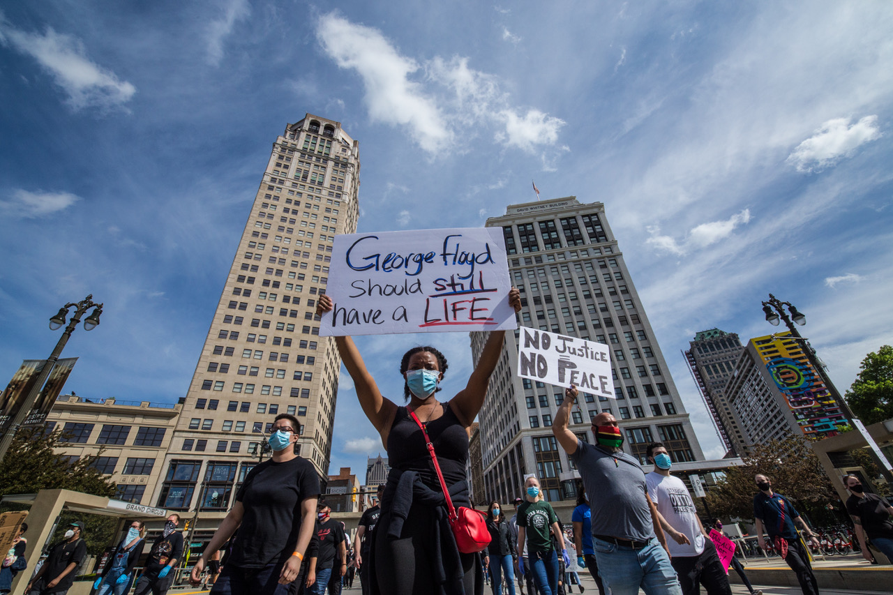 Detroit protesters