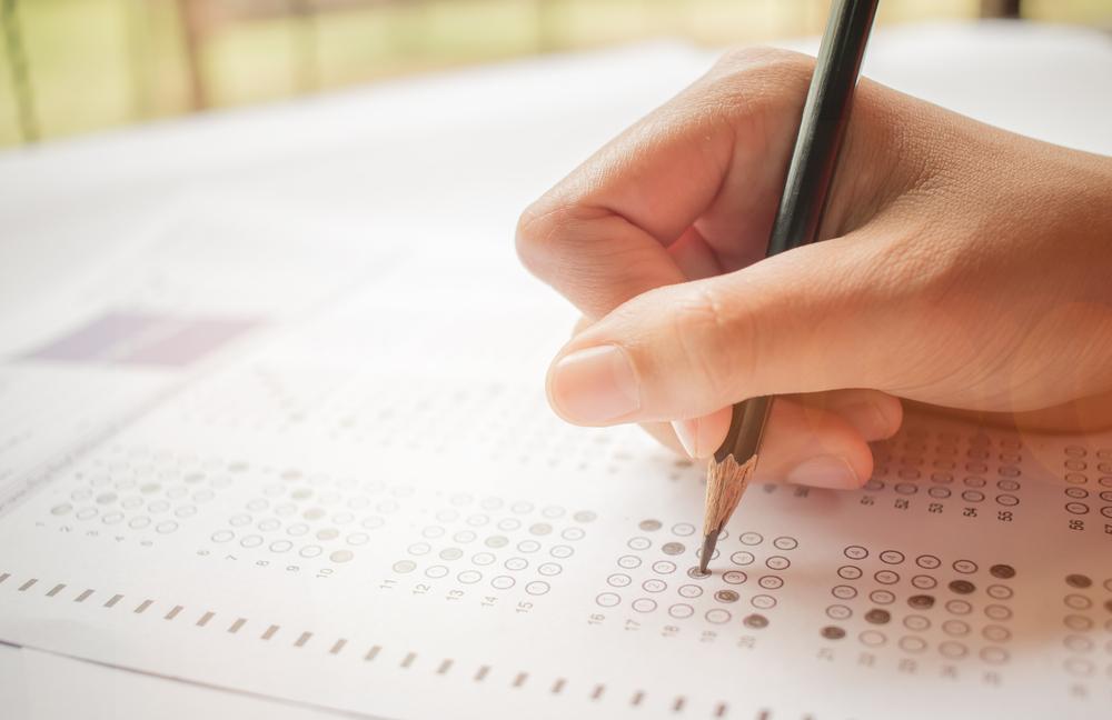 Taking a standardized test