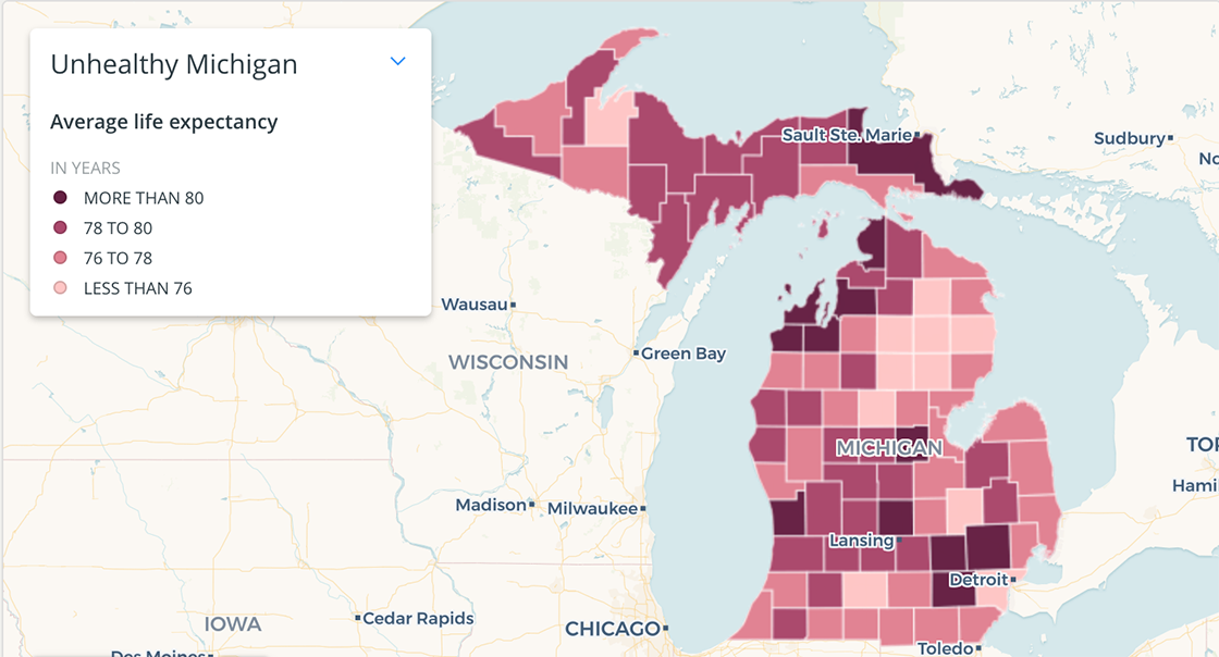 How healthy is your Michigan county? Use this map to find ...