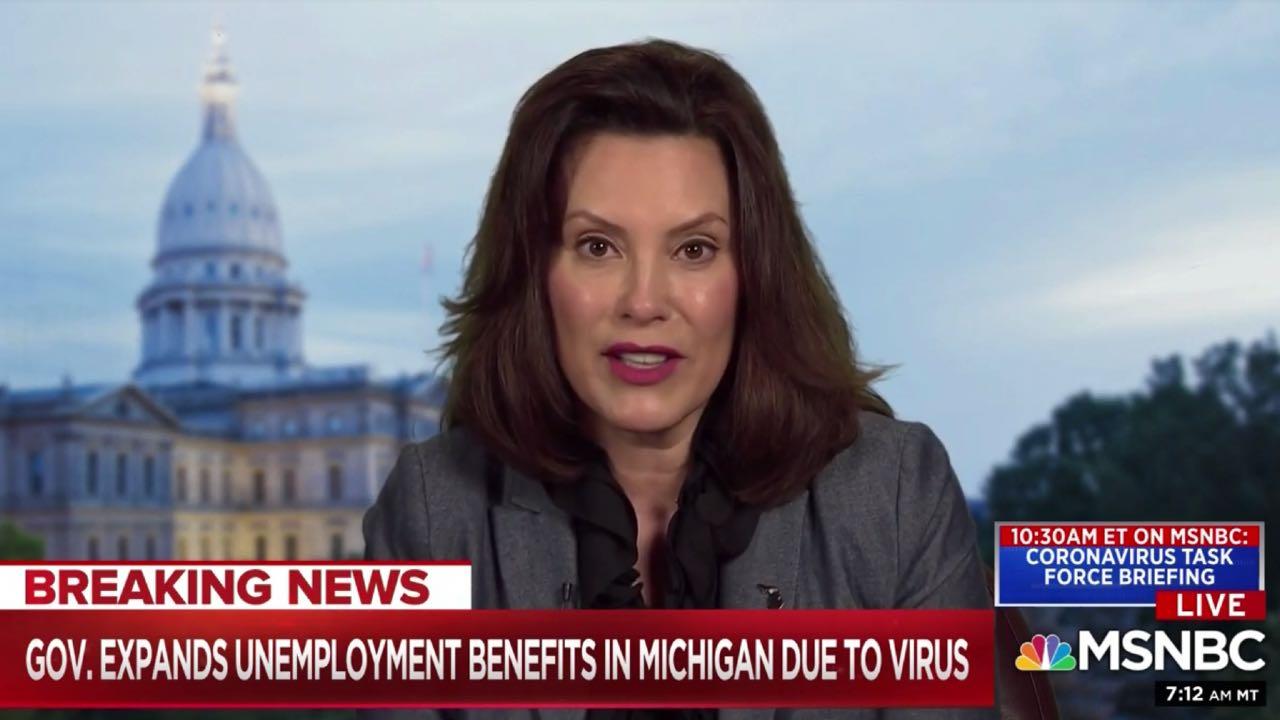 Gov. Gretchen Whitmer on MSNBC
