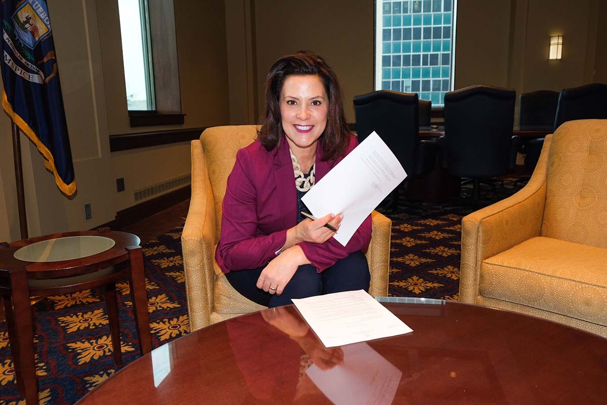 Michigan Gov  Gretchen Whitmer sets 'equal pay' rules to