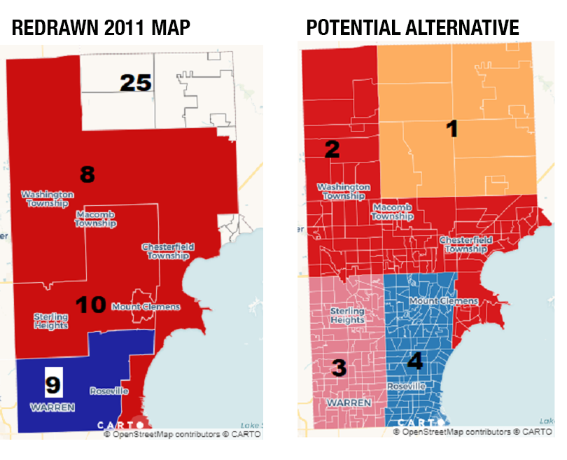 Maps show how gerrymandering benefitted Michigan Republicans