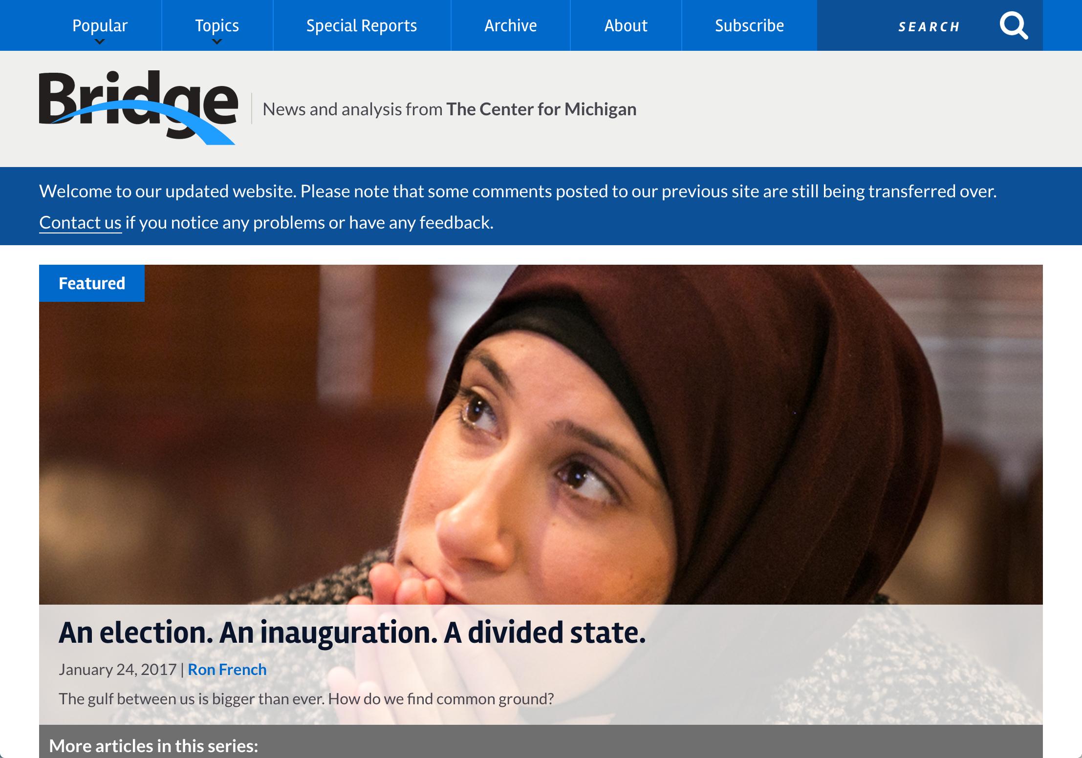 New Bridge website design