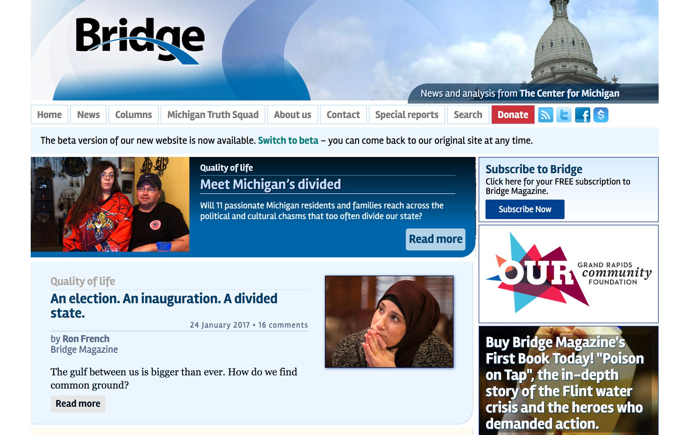 old Bridge website design
