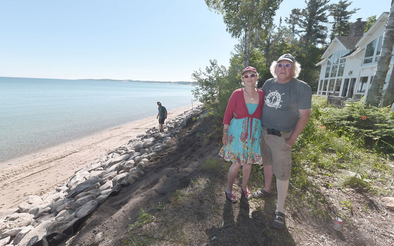 Michigan's coast is being armored with seawalls, making ...
