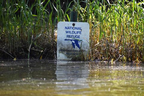 sign at the Shiawassee National Wildlife Refuge