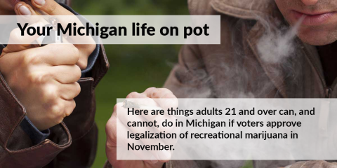 What's legal, and what isn't, under Michigan recreational marijuana plan (slideshow)