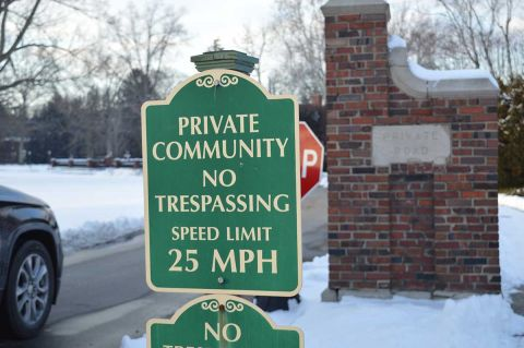 private community sign