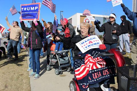In Bay City, Trump supporters march for jobs they are sure will come
