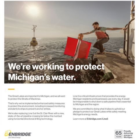 How a U.S. scientist unknowingly starred in an Enbridge Michigan ad campaign