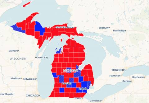Map: See how Gretchen Whitmer rolled to victory in Michigan governor race