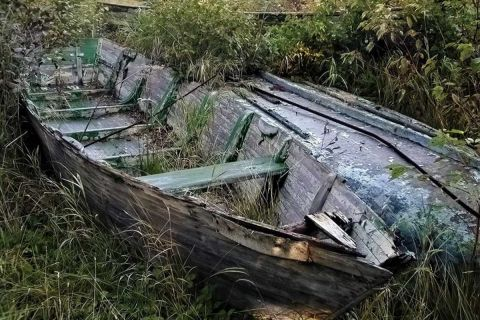 Derelict fishing boats
