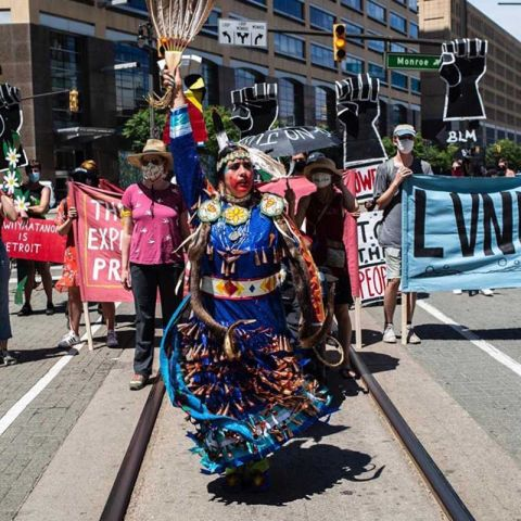 In solidarity: Indigenous communities join Detroit's Black Lives Matter movement