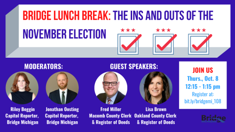 Prep for the election by watching Bridge's October Lunch Break discussion