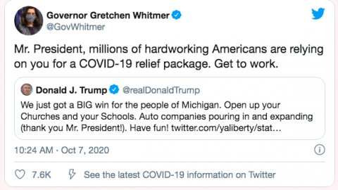Fact Squad | Trump gets a lot wrong in Twitter beef with Michigan Gov. Whitmer
