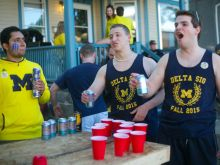 UofM game day drinking