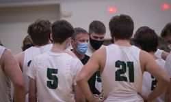 Olivet boys basketball coach Matt Seidl,