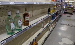 liquor store shelf